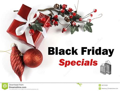 black friday specials sale message greeting with christmas