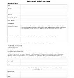 member registration form template membership application template 12 free word pdf