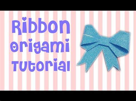 ribbon origami tutorial cara membuat pita origami ribbon origami tutorial by