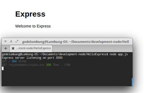 javascript tutorial linux nodejs expressjs tutorial cara install framework