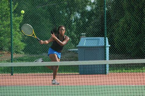 tennis swings pathfinder girls tennis swings into districts