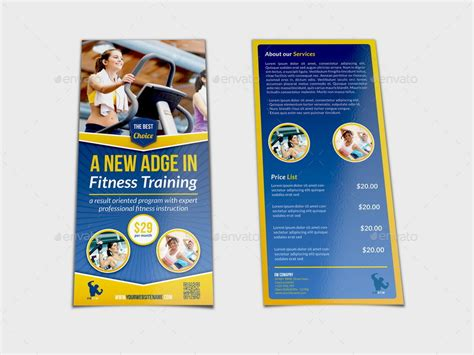 Dl Fitness Flyer Template By Owpictures Graphicriver Dl Size Flyer Template