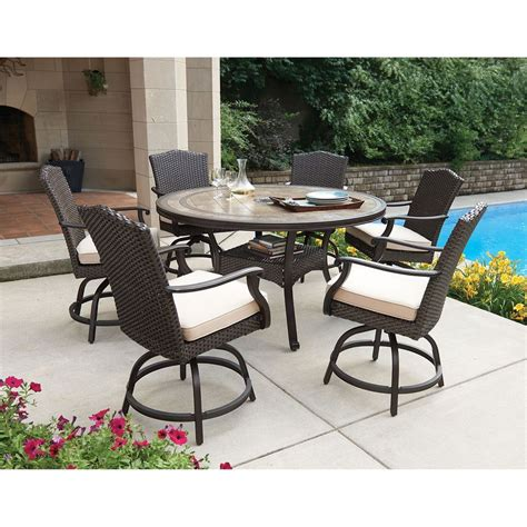 outside patio bsckyard 7 balcony height dining set