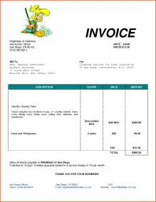 template of invoice for services sle of invoice