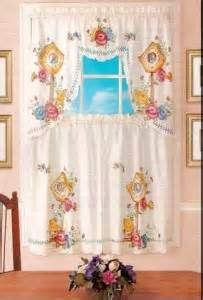 Birdhouse Kitchen Curtains Nip Colorful Birdhouses Swag Valance And Pr Kitchen Curtains Ebay
