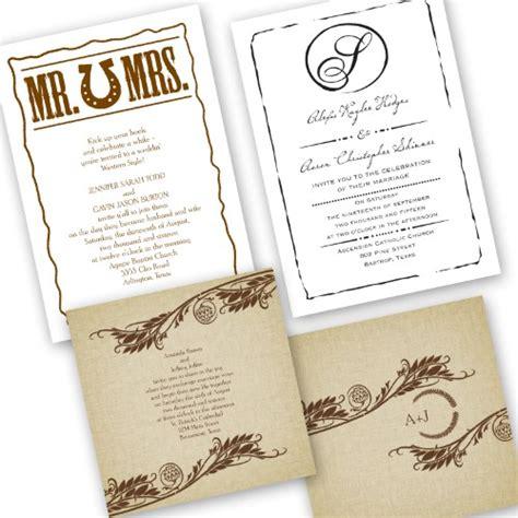 Ranch Wedding Invitations