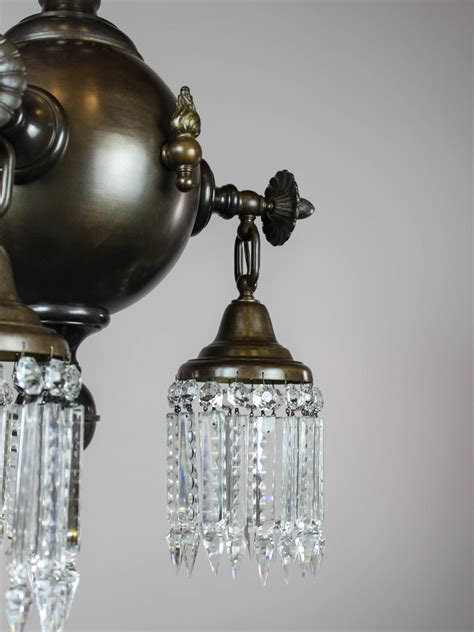 Gas Light Fixture Pair Of Combination Gas Electric Light Fixtures Modernism