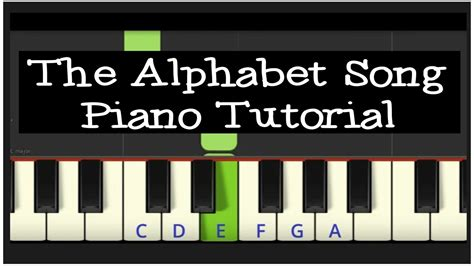 tutorial online piano easy piano tutorial the alphabet song youtube