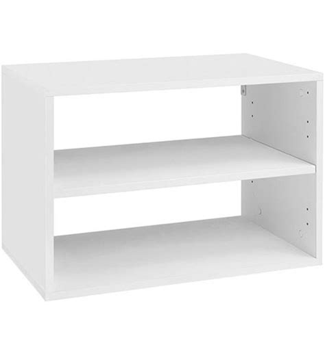 melamine o box shelving unit white