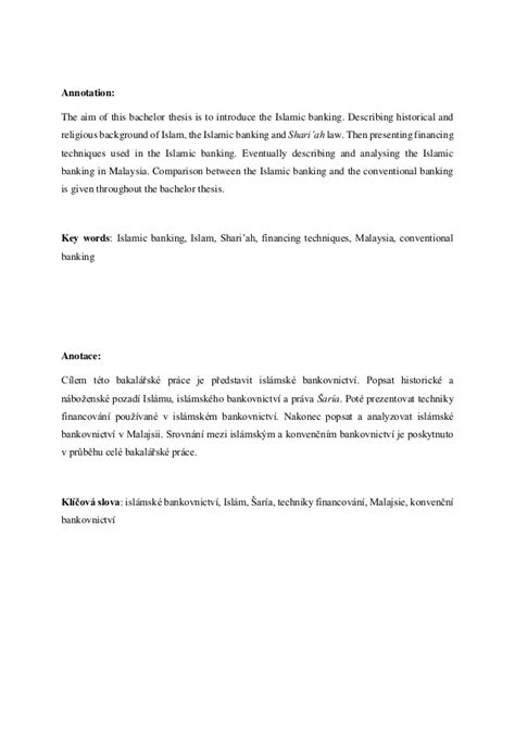 islamic banking dissertation bachelor thesis islamic banking