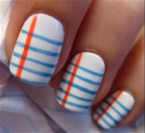 How To Make Nail Designs With Paper - how to do notebook paper nail notebook nails