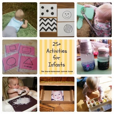 Top 10 Activities With Your Infant infant activities the stay at home survival guide