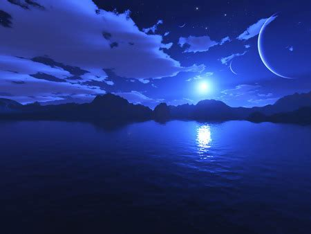 blue nights blue night lakes nature background wallpapers on