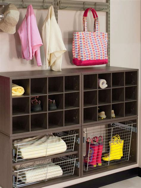mudroom shoe storage ideas mudroom storage ideas hgtv