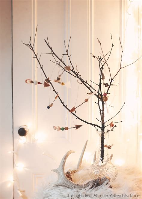 twig tree home decorating handmade christmas ornaments rustic twig arrows twig
