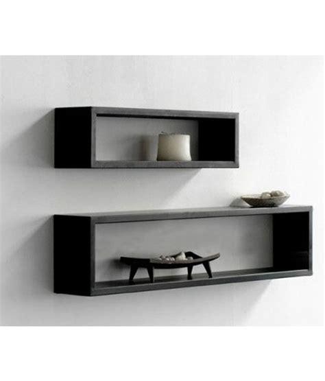 popular rectangle wall shelf buy cheap rectangle wall lifeestyle rectangular black mdf wall shelves 2 pcs buy