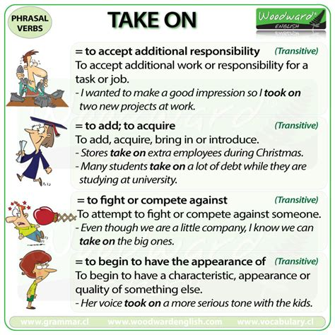 60 useful phrasal verbs with take with meaning and take on phrasal verb meanings and exles woodward