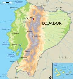 road map of ecuador and ecuador road maps