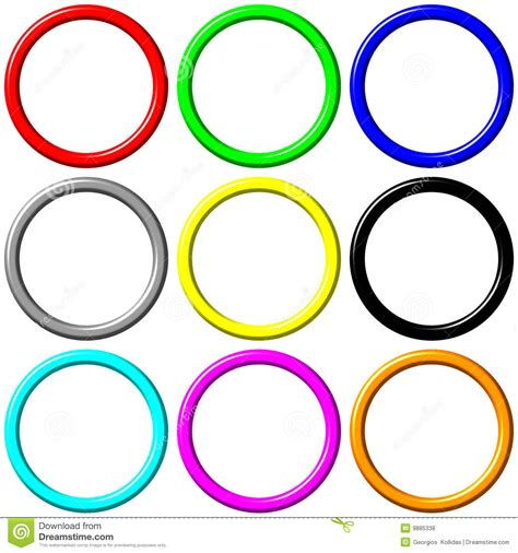 Colourful I Ring colorful rings royalty free stock photos image 9885338