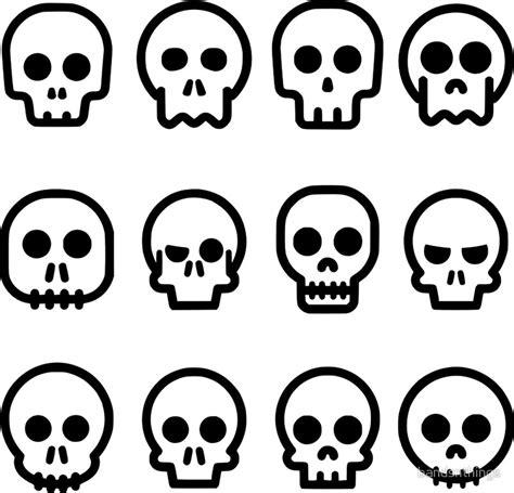 imagenes de calaveras animadas quot comic skulls quot stickers by bandsnthings redbubble