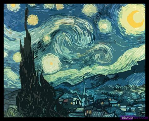 starry night how to draw starry night step by step art pop culture
