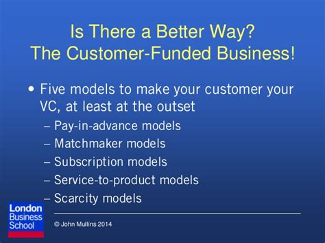 The Customer Funded Business Start Finance By Mullins Ebook the customer funded business by mullins