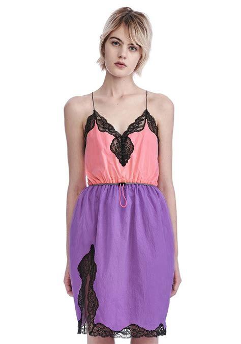 Roll Neck Slip Dress wang v neck slip dress with bungee waist dress official site