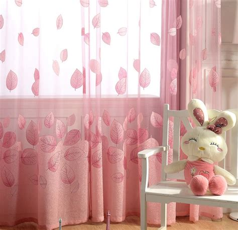 pink curtains for girls bedroom romantic pink sheer curtains cheap for girls room