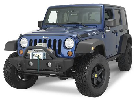 stubby jeep bumper rage products 88509 front stubby recovery bumper in
