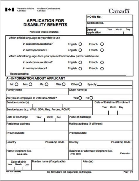 disability policy template sle disability application forms template printable