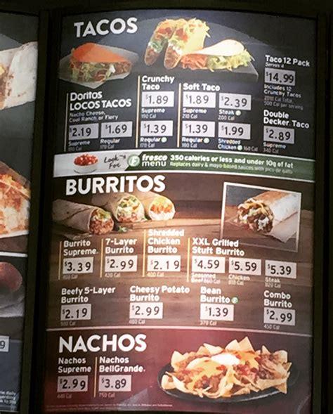 taco bell light menu are taco bell bean burritos healthy