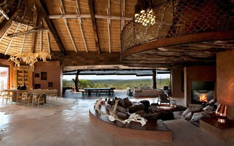 south villa with cave like interiors and