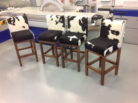 rustic cowhide bar stools cabinet hardware room