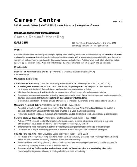 resume format for experienced marketing 10 marketing resume exles sle templates