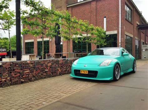 matte teal car nissan 350z from matte f16 grey vinylwrap to teal plasti