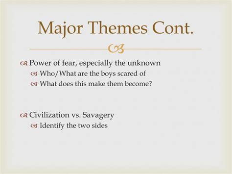 describe the major themes in lord of the flies ppt lord of the flies powerpoint presentation id 2232607
