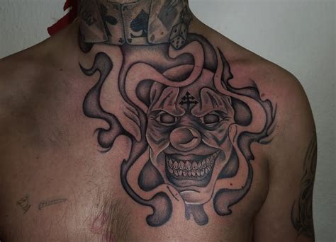 face design tattoos clown images designs