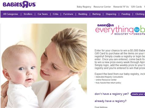 Babies R Us Sweepstakes - babies quot r quot us everything for baby registry sweepstakes