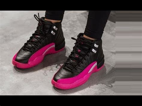 Dotted 12s air 12 black deadly pink retro sneaker review