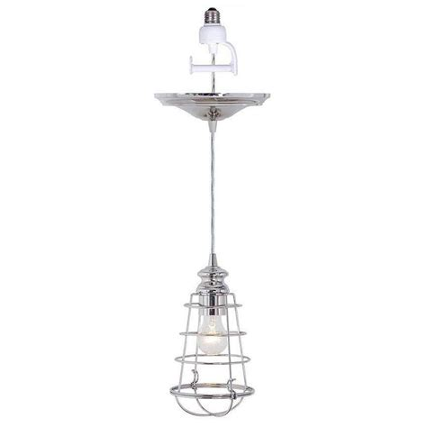 Pendant Light Conversion Home Decorators Collection Cage 1 Light Brushed Nickel Pendant Conversion Kit 1879900220 The