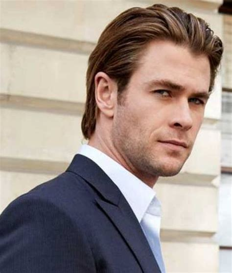 mens hair cuts with pushed bach over ears distinguished hair smoothed back behind the ears http