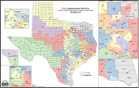 texas congressional district maps texas redistricting court unveils interim map