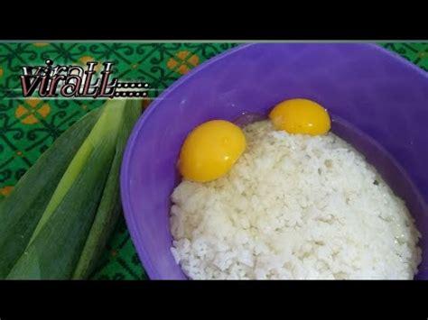 nyobain makanan   viral nasi telor korea youtube