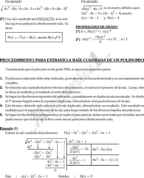 raiz cuadrada de 68 radicacion algebraica ejercicios resueltos pdf