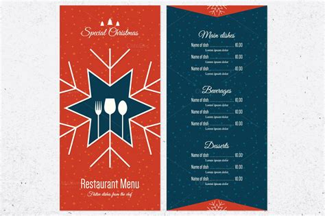 Festive Cards Templates by Special Festive Menu Card Templates On