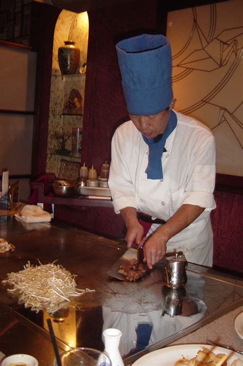 japanese restaurant cook at table cuisine what is the difference between