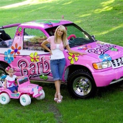 barbie red cars pink barbie car jeep tickle me pink pinterest barbie