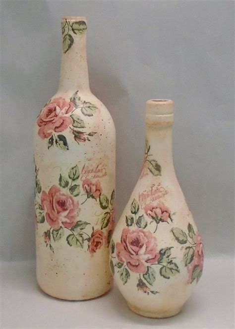 Decoupage Bottles - best 25 decoupage glass ideas on decorated