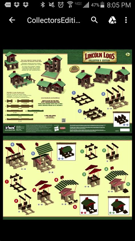 lincoln logs building instructions images