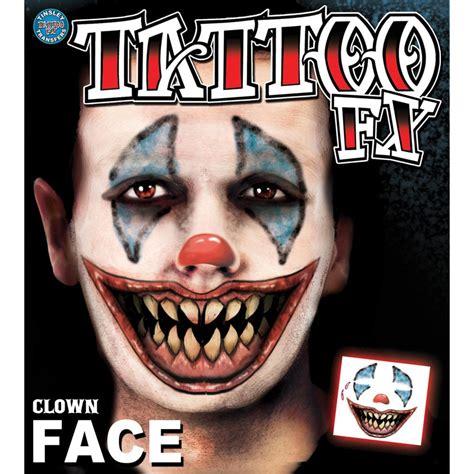 clown face tattoo clown temporary makeup store